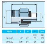 "Watts Anti Electrolyse koppeling  1/2"" MF - 3015/15 - 1824331_"