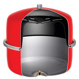 Flamco Flexcon 25 liter / 1.5 bar (CV) MET KOPPELING EN DIGITALE DRUKMETER_