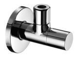 Schell Design Hoekstopkraan Stile + Rozet (Lavabo,WC) _