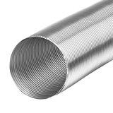 Aluminium Flexibel 100 mm (van 80cm tot 3 meter uittrekbaar)_