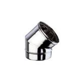 Inox Bocht Enkelwandig 45° - Diameter 80mm_