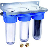 Promopakket Honeywell Triplex Regenwaterfilter FF60 met bypass, fijn- en koolstoffilter_