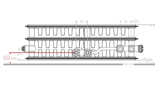 VKM8 UNI T33 H700 L800 (2179 Watt)  8-aansluitpunten_