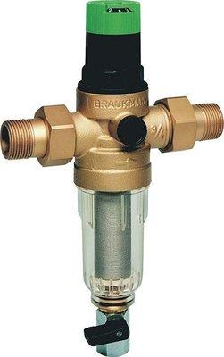 """Honeywell Waterfilter FK06 4/4"""" 100µm met manuele-spoeling en drukverminderaar"""