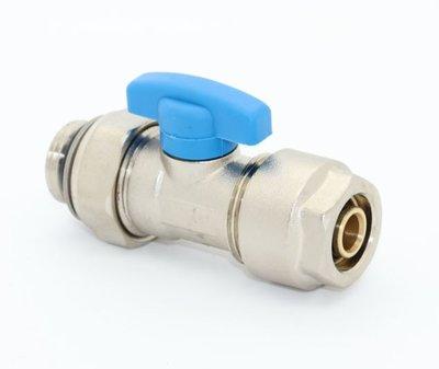 """Collector Bolkraan 2-delig 1/2"""" M - 16/2 Alupex met O-ring - Blauw"""