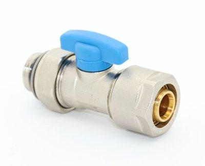 """Collector Bolkraan 2-delig 1/2"""" M - 20/2 Alupex met O-ring - Blauw"""