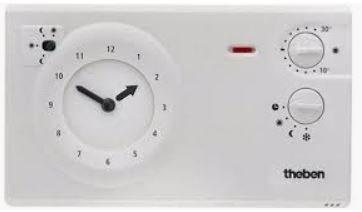 Theben RAM 784R Analoge Ruimtethermostaat met batterijen