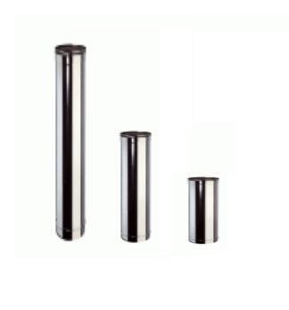 Inox Buis Enkelwandig 1m - Diameter 80mm