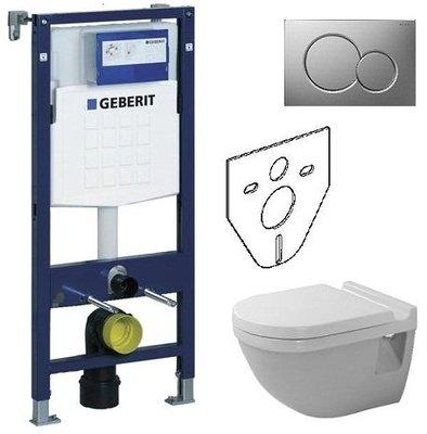 Duravit Starck III Compact Hang-WC VERKORT MODEL + Softclose Zitting + Geberit Duofix