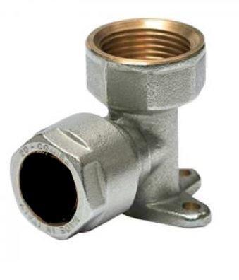 """Muurplaat / Kulas 3/4""""F x 18 mm KOPER Klemkoppeling"""