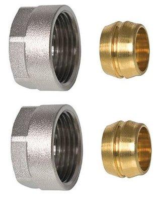 """Aansluitkoppeling  EK3/4"""" x 18 mm koper Aansluitkoppeling - Euroconus (set 2 stuks)"""