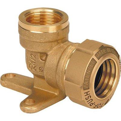 """DECA Klemkoppeling Muurplaat 1/2"""" V x 25/2,3 mm Voor HDPE-Buis"""
