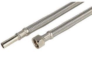 "Sanitaire Inox Flexibel 1/2""F x Pijp 10 mm - 60 cm"