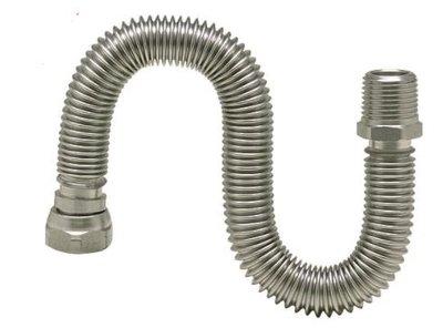 """RVS Spiraalbuis flexibel 3/4"""" Uittrekbaar 260 > 520 mm"""