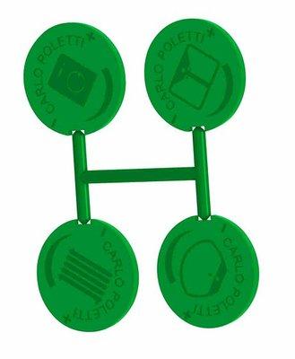 Groen indicatie plaatje voor UNI Collector  Met Ingebouwde Kraantjes EK