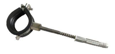 Beugel Met Rubber Inlage 32-37 mm met stokschroef M8 x 100  RVS