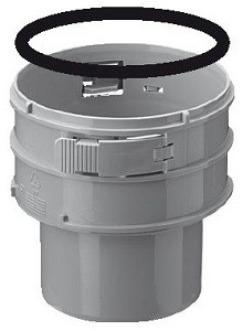 BH Koppelstuk PP Spie-Flex 80 mm + Ring