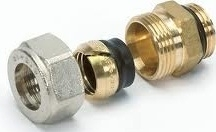"Begetube 1/2""M x 15 mm Klemkoppeling"