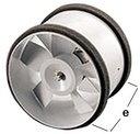 Nicoll Axiale Buisventilator Door Inductie (150 mm)