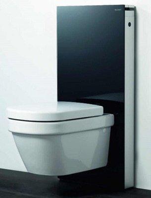 Geberit Monolith System Zwart + Starck III Hang-WC & Softclose Zitting