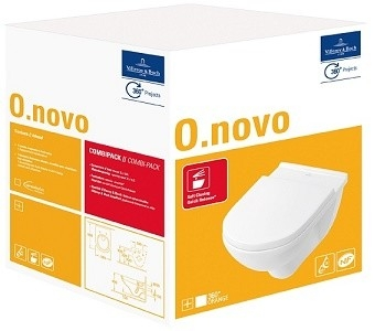 Villeroy & Boch O.novo Hang-WC + Softclose Zitting