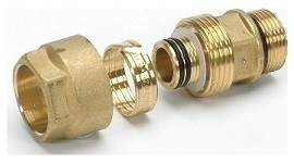 """Begetube 1/2""""M x 20/2 mm Klemkoppeling (Met O-ring)"""