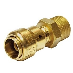 "Comisa 1/2""M - 20/2 mm Push-Fit Koppeling"