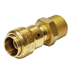 "Comisa 1/2""M - 16/2 mm Push-Fit Koppeling"