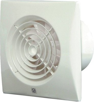 S&P Silent 100 CRZ Badkamerventilator Wit Met Timer