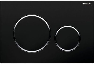 Geberit Sigma 20 Drukplaat 2-Toets Zwart / Chrome Ringen