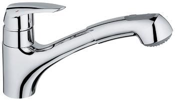Grohe Eurodisc Uittrekbare handdouche Keukenkraan Chrome
