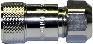 Keerklep Chroom Type EB 3/8 FF - 10mm Schroefverbinding F => 10