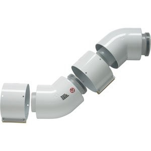 Vaillant Concentrische Bocht 60/100 mm - 45° (PP/Staal) condensatie - 303911