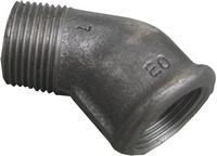 """HSE Knie 4/4"""" MF 45° Gietijzer Zwart - 14121025"""