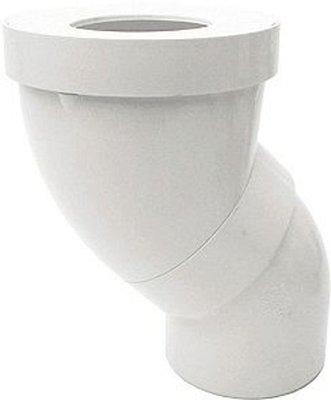 Nicoll WC Aansluitstuk Regelbaar 90mm