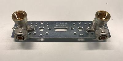 """Muurplaat Badbrug 1/2""""F x 16/2 mm Klemkoppeling"""