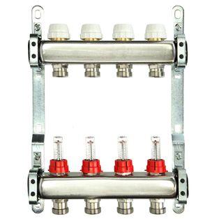 Itap 4-Groeps RVS Collector Met Debietmeters
