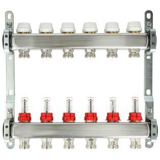 Itap 6-Groeps RVS Collector Met Debietmeters