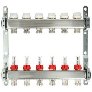 Itap 7-Groeps RVS Collector Met Debietmeters