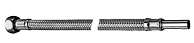 """Schell Inox Flexibel 3/8""""F x Pijp 10 mm - 40 cm"""
