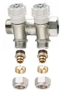 """Itap Collector 3/4"""" Met 2 Ingebouwde Kraantjes (+ 2 Klemkoppelingen 16/2 mm)"""