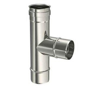Inox T-stuk Enkelwandig 90° - Diameter 80mm