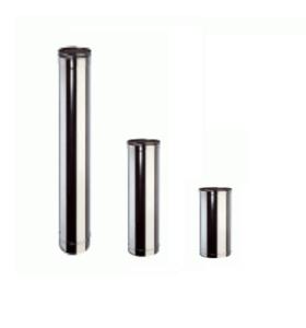 Inox Buis Enkelwandig 0.5 m - Diameter 80mm