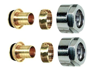 "Aansluitkoppeling EK (3/4"") x 18/2 mm VPE (2 stuks)"