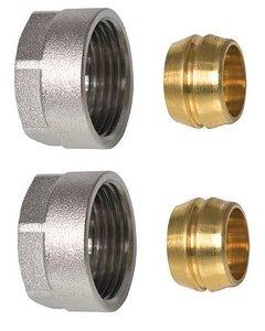 """Comisa EK3/4"""" x 18 mm koper Aansluitkoppeling - Euroconus (set 2 stuks)"""