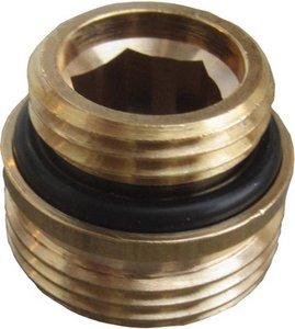 """Aansluitnippel H-onderblok 3/4"""" (conisch) - 1/2' met O-ring"""