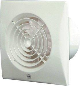 S&P Silent 100 CHZ Badkamerventilator Wit Met Hygrostaat en Timer