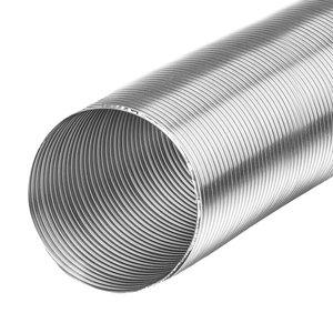 Aluminium Flexibel 125 mm (van 80cm tot 3 meter uittrekbaar)