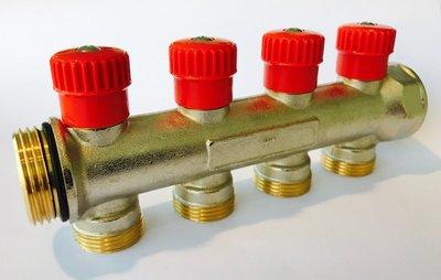 """Begetube Collector 3/4"""" Met 4 Ingebouwde Kraantjes M24 (Rood)"""