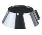 Inox stormkraag enkelwandig Diameter 130mm